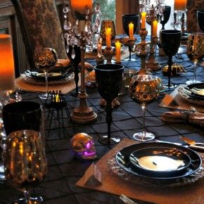 elegant kitchen table scary for halloween from getitcutcom