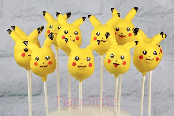 Pikachu pokemon cake pops