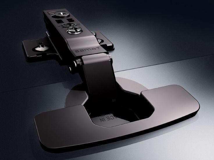 Samet introduce sul mercato Impro Bitter: la cerniera top di gamma si tinge di nero per resistere alla corrosione e all'umidità, aggiungendo ancora più stile all'interior design di mobili che durano a lungo.