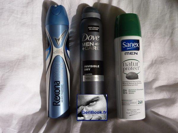 Banc dessai 3 déodorants homme @Dove @Rexona Yeap @Shovkat Kukanbayev