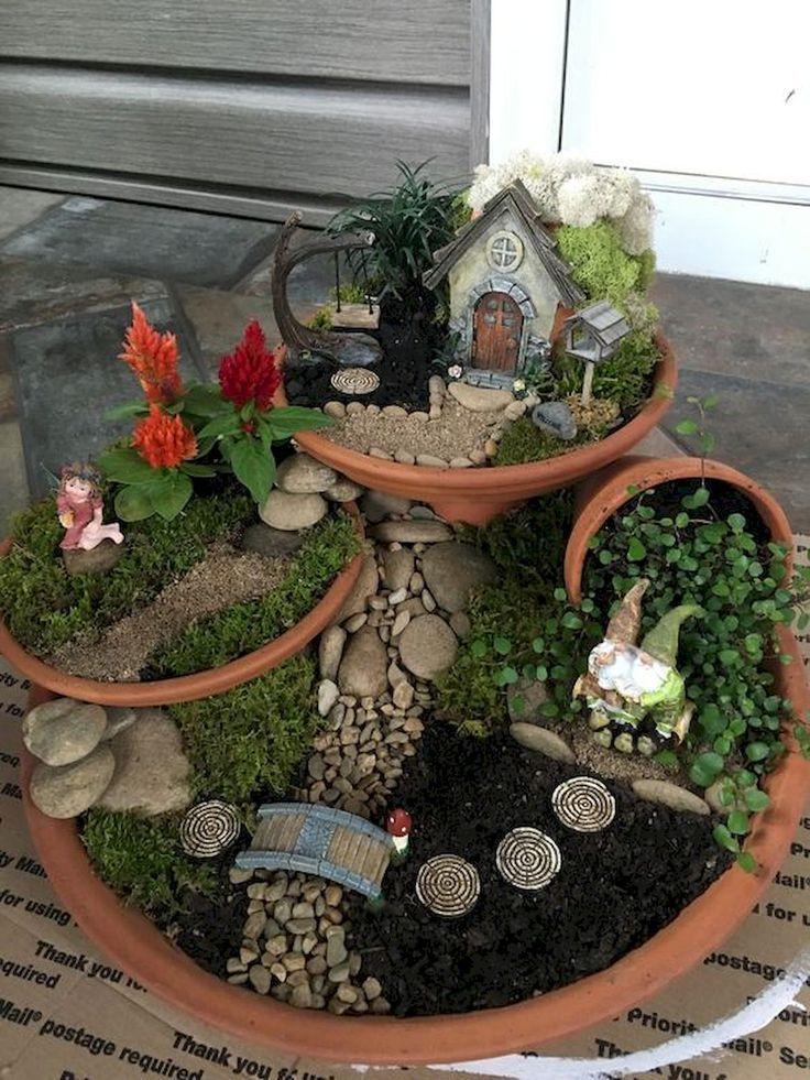 30 schöne Indoor Fairy Garden Ideen – #Fairy #gar…