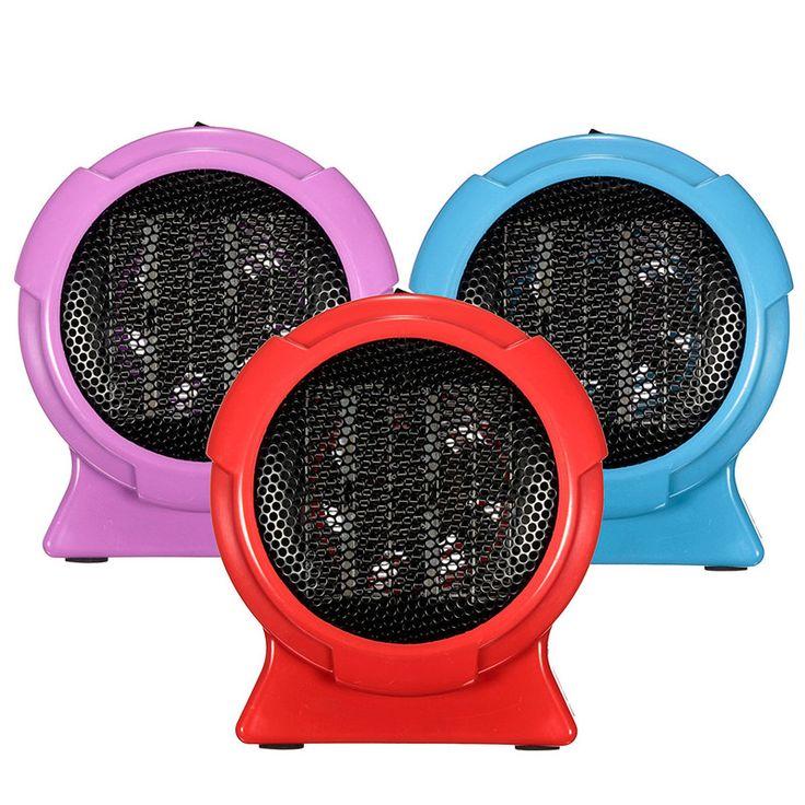 2016 Pemanas Portabel Berguna Kualitas Tahan Lama Mini Personal Ceramic Space Heater Listrik Winter Warmer Fan Biru