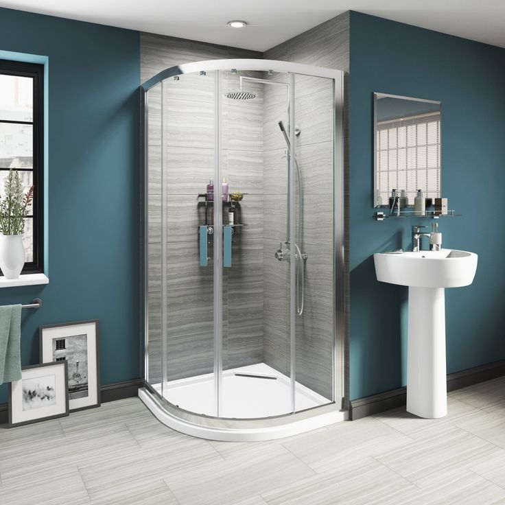 Quadrant shower enclosures are wonderful at saving space and enhance the illusion of a larger bathroom from the traditional cubicle shower enclosure. The curved exterior panels and double doors accentuate the beautiful, modern style of this type of shower enclosure.