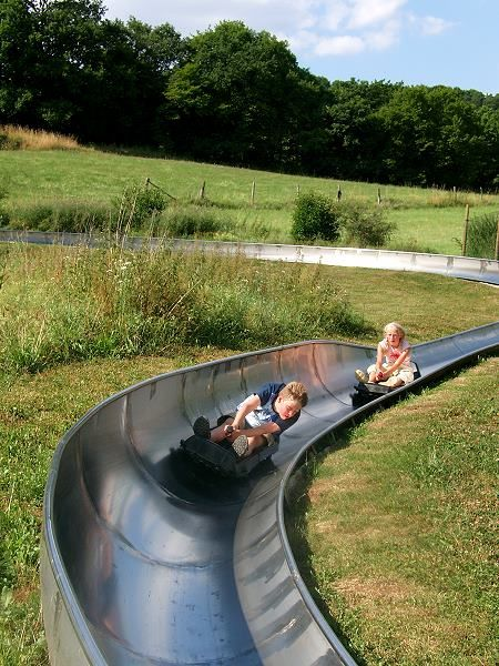 """Summer """"Sledding"""" In Austria! Wish we had this somewhere closer to home."""