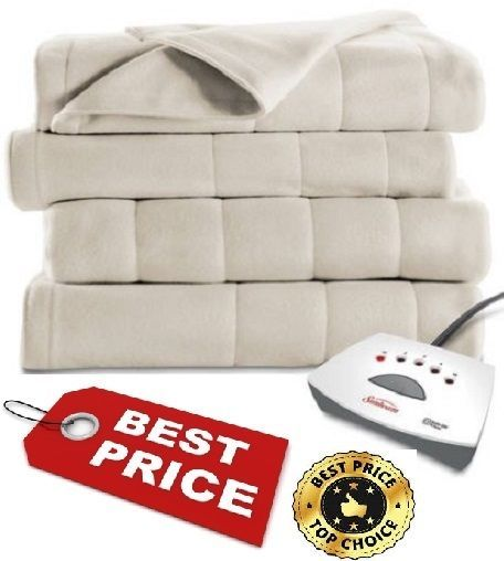 Electric Blanket Heated Fleece Throw Lap 5 Heat Settings Auto Shut-Off Warm Home #Blanket #Country