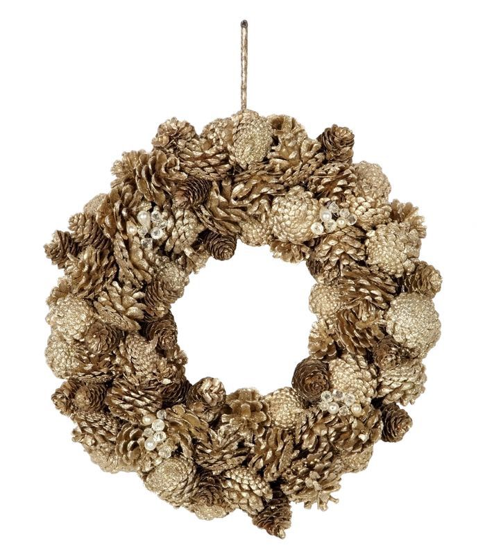Chateau Pinecone, Jewel, and Glitter Wreath