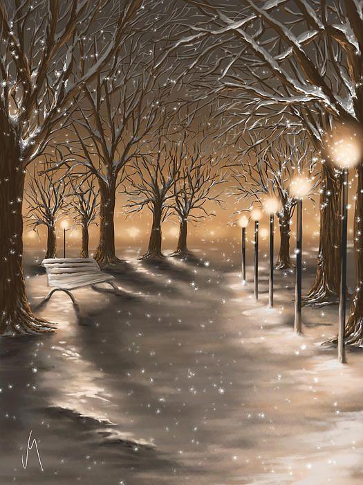 Winter by Veronica Minozzi - Winter Digital Art - Winter Fine Art Prints and Posters for Sale