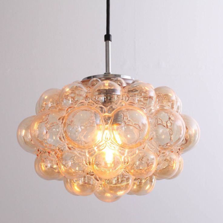 Huge Bubble Glass Chandelier by Helena Tynell for Glashütte Limburg | From a unique collection of antique and modern chandeliers and pendants  at https://www.1stdibs.com/furniture/lighting/chandeliers-pendant-lights/