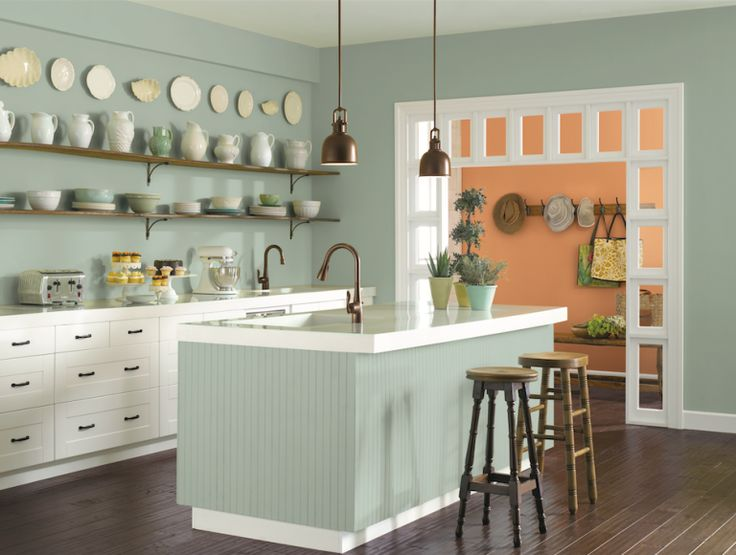 10 Classic Paint Colors That Won't Go Out of Style. Featured in this image: Oyster Bay (SW 3206) Sherwin-Williams
