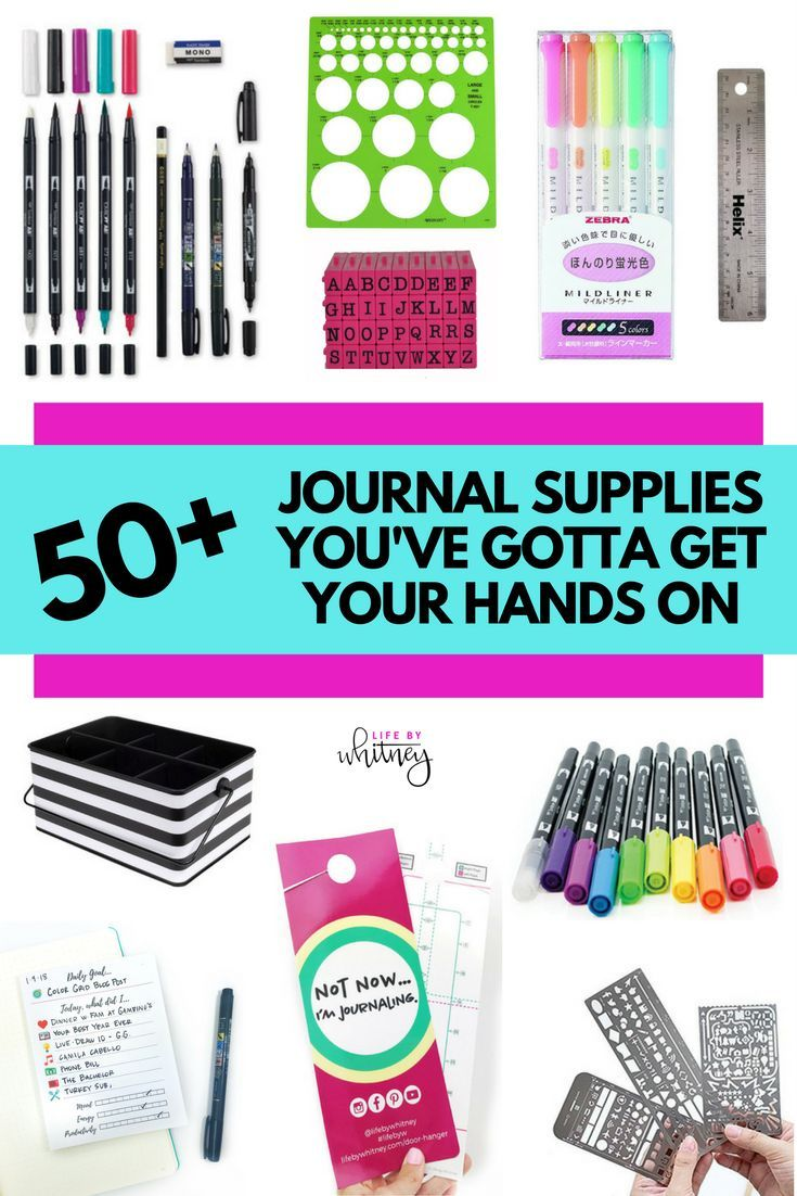 Supplies I Use In My Journal Life By Whitney Bullet Journal Notebook Bullet Journal Inspiration Bullet Journal Hacks