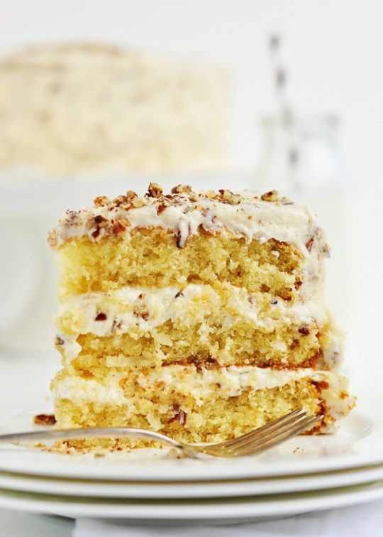 Billie's Italian Cream Cake - buttermilk cake with coconut, pecans, cream cheese-y whipped frosting - delish!