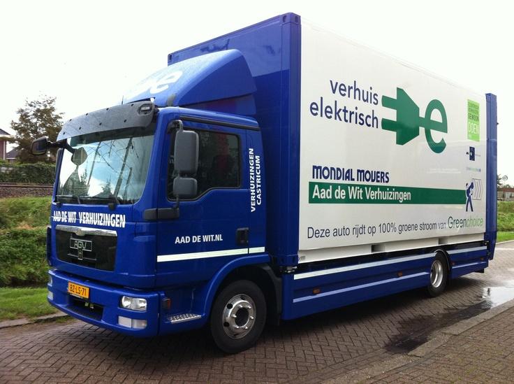 Elektrische verhuiswagen Mondial Aad de Wit Verhuizingen