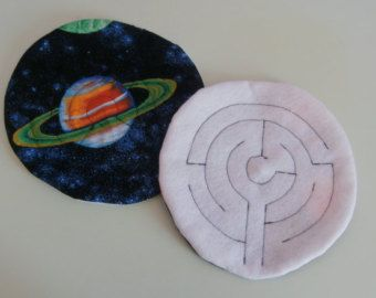 Fabric Marble Maze - Round Space / Planets