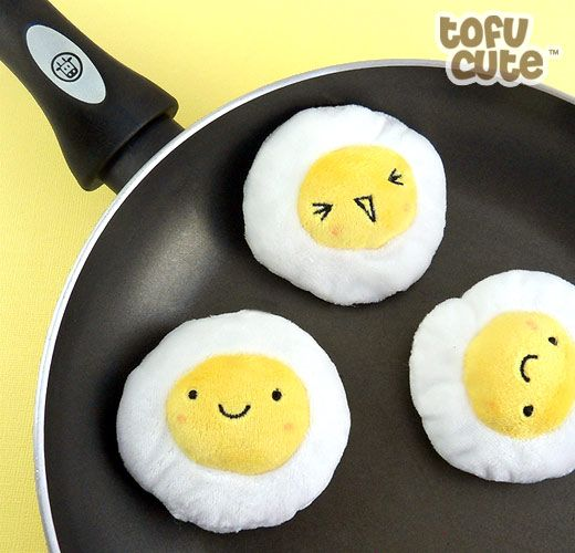 Plush eggs... they look so happy...and so cute I want these now just not a keychain I love kawaii faces and cute faces