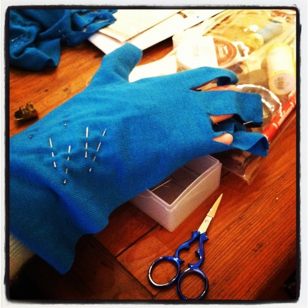 Gloves in the making!