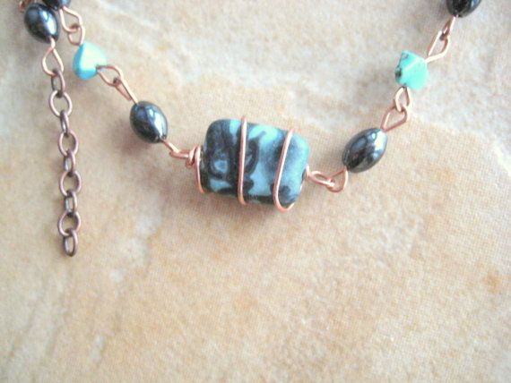 Picasso Jasper Copper Bracelet with magnetic by KiCrystalCreations, $20.00