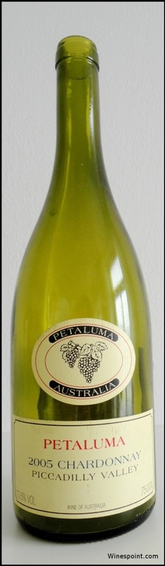 Chardonnay, #Petaluma, 2005, #Piccadilly Valley, Australia.  Winespoint rating (04/2013): 91+