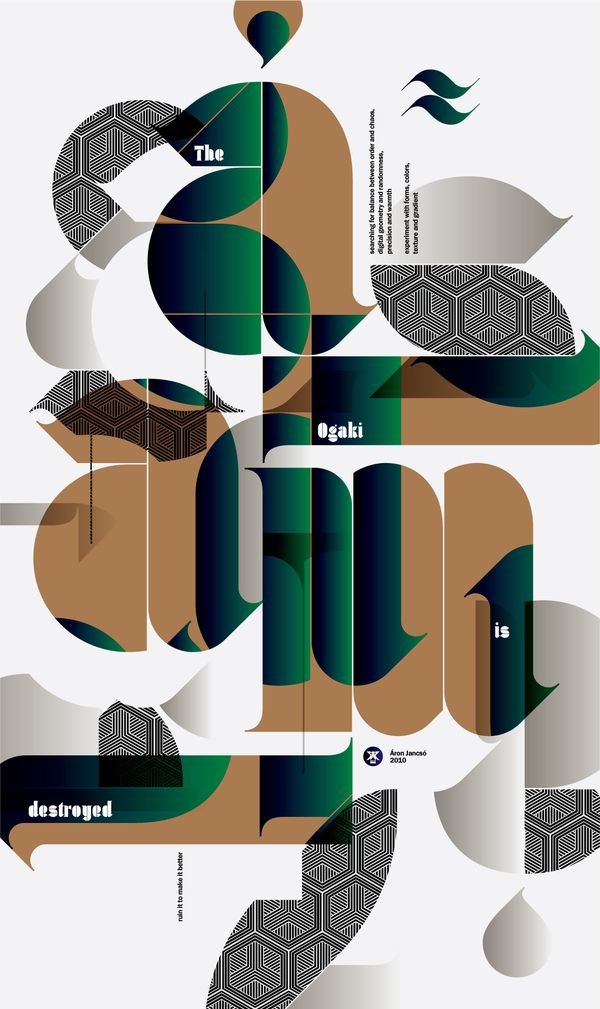Typographic Posters II on Behance