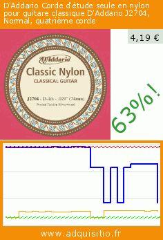 D'Addario Corde d'étude seule en nylon pour guitare classique D'Addario J2704, Normal, quatrième corde (Appareils électroniques). Réduction de 63%! Prix actuel 4,19 €, l'ancien prix était de 11,35 €. https://www.adquisitio.fr/daddario/corde-d%C3%A9tude-seule-nylon-0