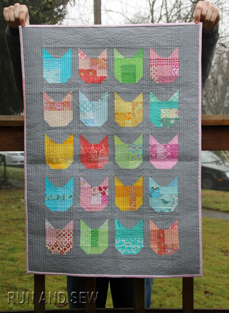 the Cat quilt by Run and Sew Quilts.  Design by Elizabeth Hartman   Oh! Fransson
