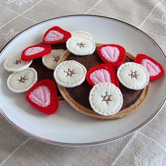 Pretend Felt Food - Pancakes - Kids - Play Food - Pancake Breakfast - Imaginary Play