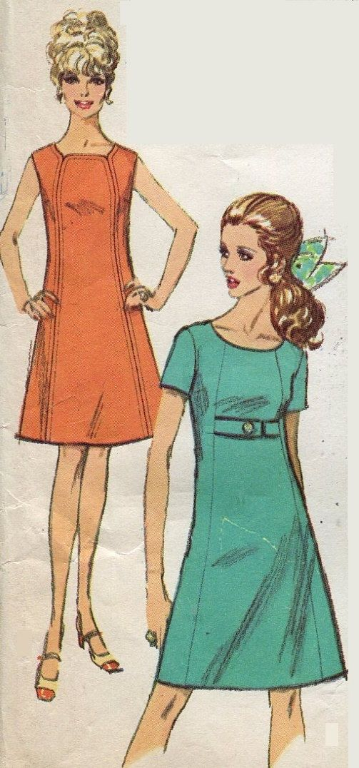1960s Misses Dress Pattern Simplicity 7717 by PengyPatterns, $10.00