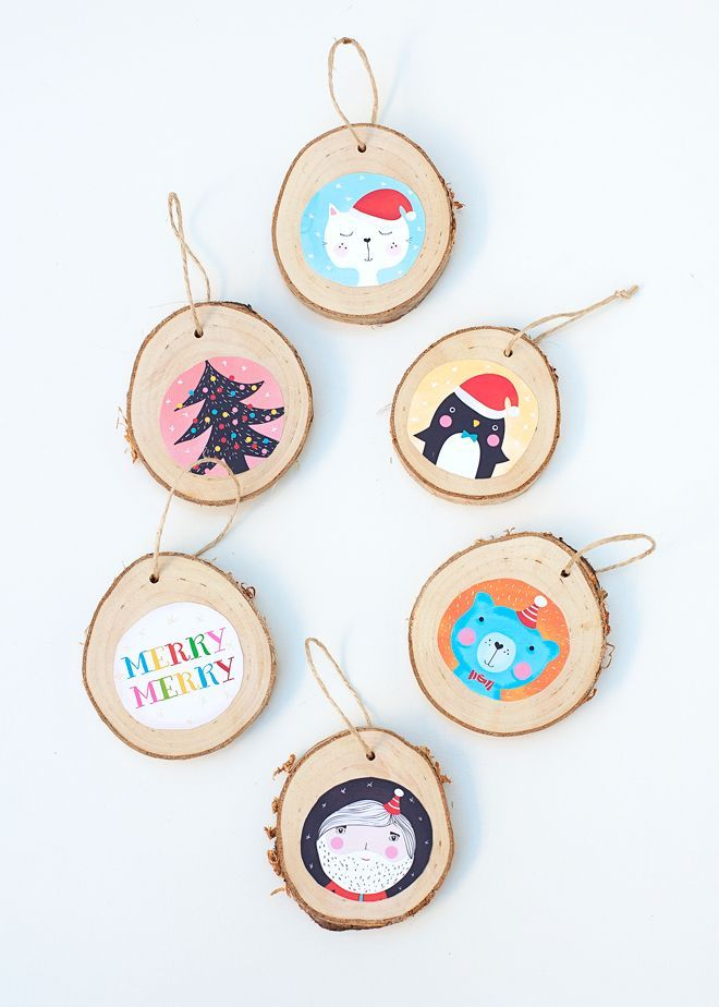 DIY PROJECT: ILLUSTRATED BIRCH CHRISTMAS ORNAMENTS | THE STYLE FILES