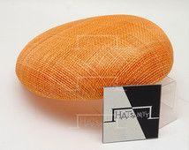 SEMPLICE pianura Sinamay Mini berretto cappello pezzi fai da te / testa / Cocktail Ascot per spose fai da te - Orange