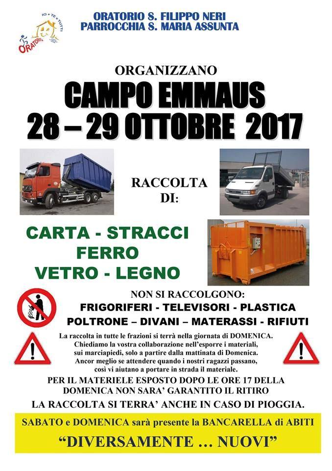 """Domenica 29 ottobre ritorna il """"Campo Emmaus"""" d'autunno 2017 - http://www.gussagonews.it/campo-emmaus-autunno-ottobre-2017/"""