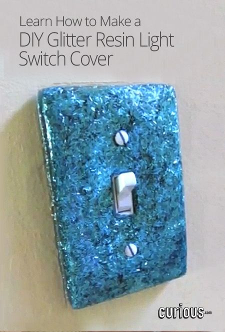 Diy Glitter Resin Light Switch Cover Today S Craft And