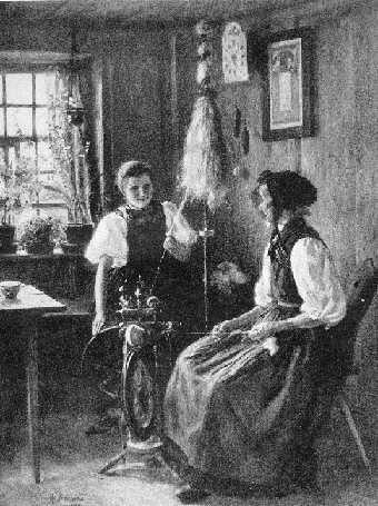 Wilhelm Hasemann: : Durch Plaudern und Spinnen die Stunden verrinnen (1892) #Gutachtal