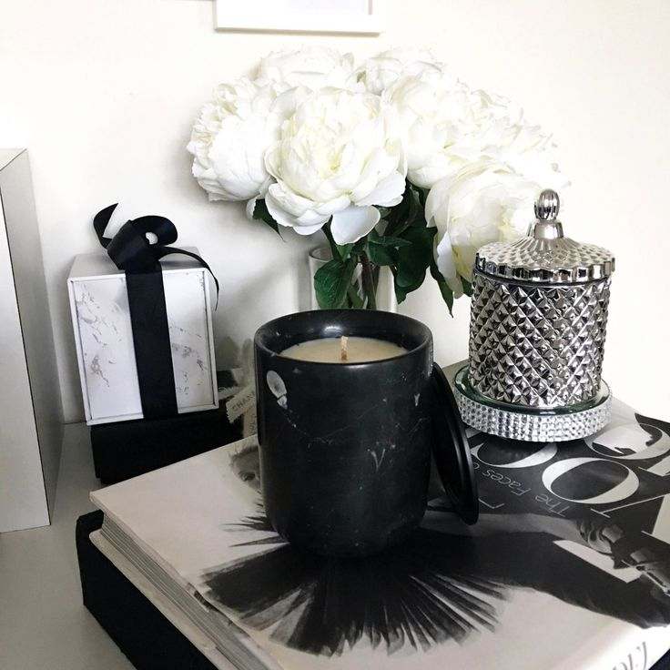 Black Carrara Marble Candle  www.skcollection.com.au  personalised candles • custom • wedding favours • marble • events • corporate