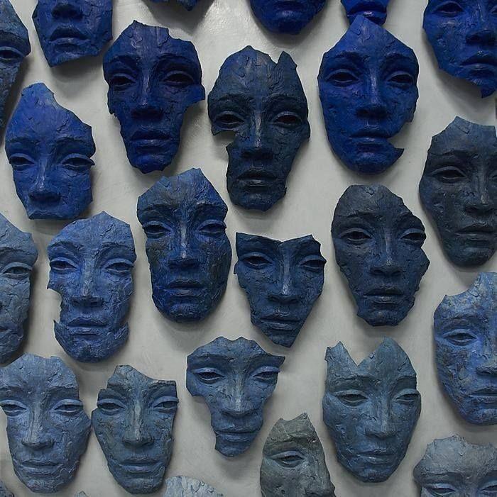 Masks by Lionel Smit (b.1982).