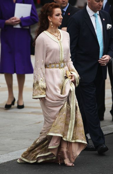 She's so beautiful! Lalla Salma of Morocco at the royal wedding of Will and Kate.  and those shoes - fantastic!