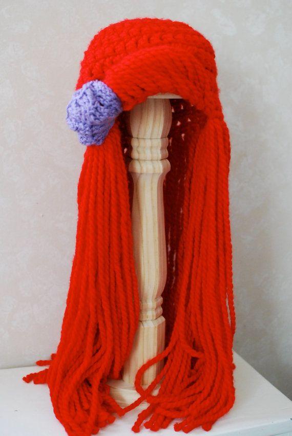 Little Mermaid Ariel Yarn Hair Wig Toddler/Child by WillowWardrobe, $29.95