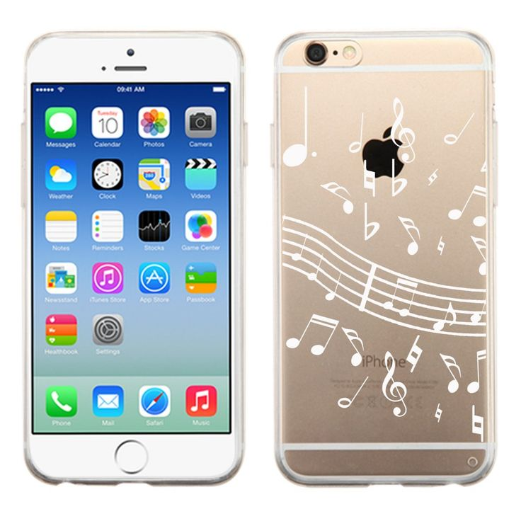 Fit iPhone 6 / 6s, One Tough Shield ® SLIM-FIT Transparent Flexible TPU Phone Case for Apple iPhone 6 / 6s - (White Music Notes). Compatible with: Apple iPhone 6 / 6s (4.7 inch Screen Size). Made of highly durable TPU (Thermoplastic Polyurethane) plastic material. Prevent dust and scratches. Flexible texture Surface. Grip-Friendly. No tool is required for installation. Full ports access for camera lens/buttons/charging. Phone is Not Included.