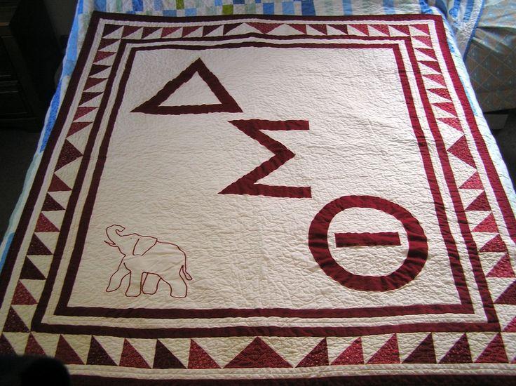 Delta Sigma Theta quilt