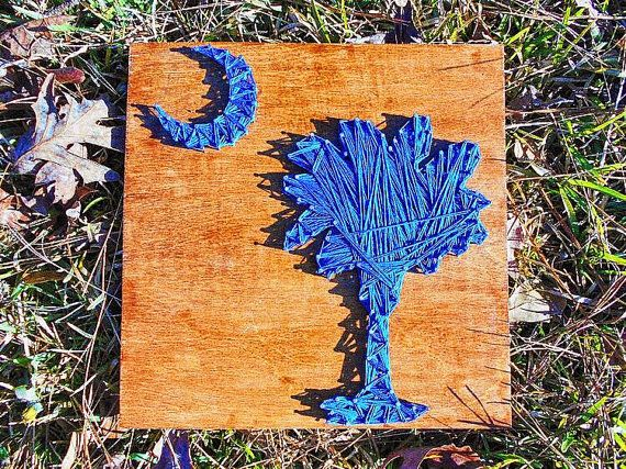 South Carolina Palmetto Moon: String art wall by PalmettoCrafted
