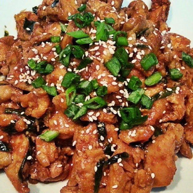 wok de pommes de terre poulet epinards a la coreenne