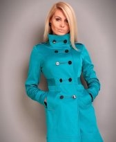 Trench Timeless Art Turquoise