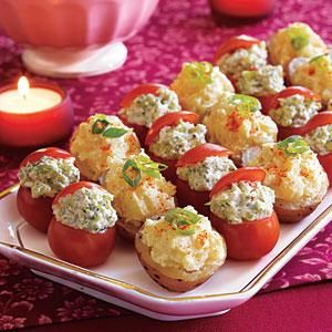 New Potatoes with Yogurt-Mustard Filling Recipe | MyRecipes.com