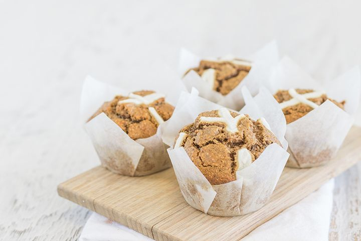 Healthy Hot Cross Muffins (Easter Recipe)
