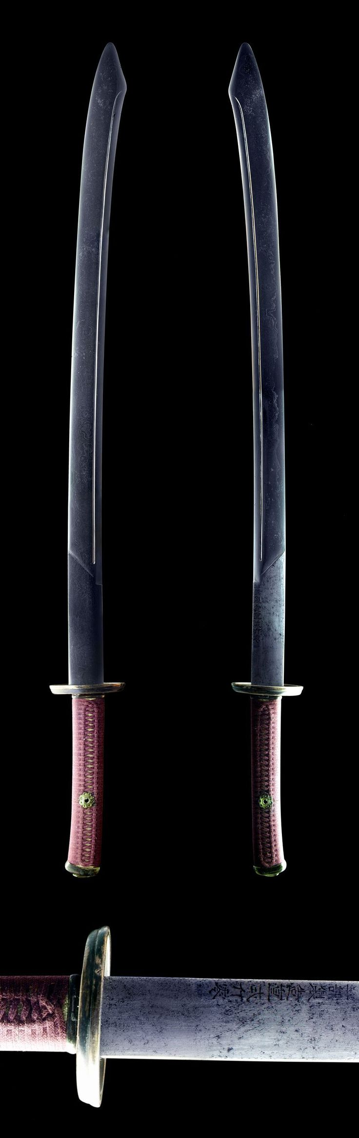 "A resharpened Chinese saber of the Yanchidao (雁翅刀) type, with the inscription ""工部製造重弍斤零 (Made by Ministry of Works, weigh two catties)"" on the blade. Possibly late Ming period."