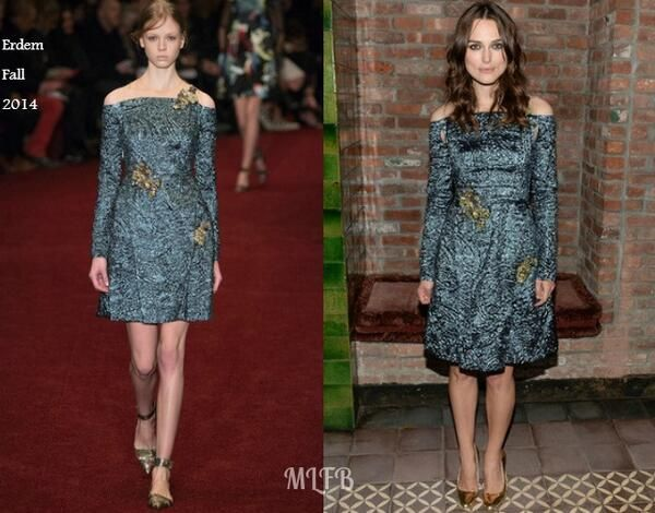 Keira Knightley In Erdem - 'Begin Again' New York Premiere After-Party. Re-tweet and favorite it here: https://twitter.com/MyFashBlog/status/482248850036363265/photo/1