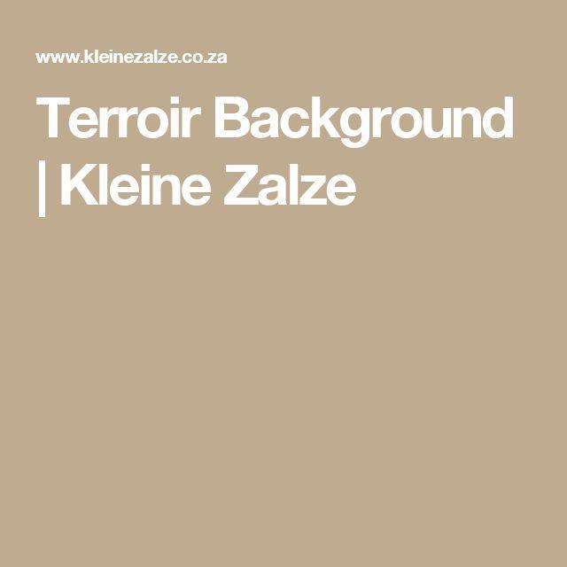 Terroir Background | Kleine Zalze