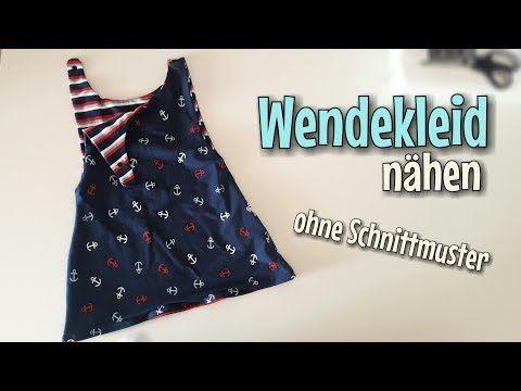 Wendekleid Nähanleitung - OHNE Schnittmuster - Für Anfänger - Nähtinchen - YouTube