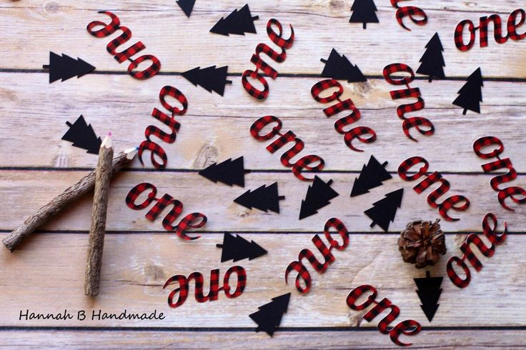 Lumberjack One Confetti, Plaid One Confetti, Lumberjack Birthday Party by HannahbHandmade on Etsy https://www.etsy.com/listing/271133151/lumberjack-one-confetti-plaid-one