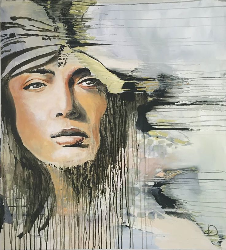 """""""Air"""" 100x90 Cm. Acrylic on canvas Made by Naja Duarte"""