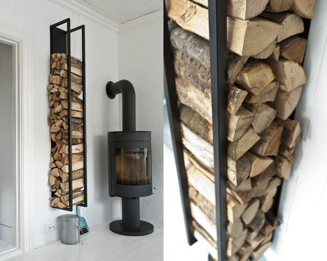 Awesome Indoor Wood Storage   Outdoor Too?? Fjeldborg: Woodwall