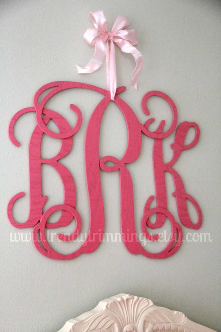 Brookfield fixed gate crib for sale - Perfect For Baby Girl S Room 22 Wooden Monogram Interlocking